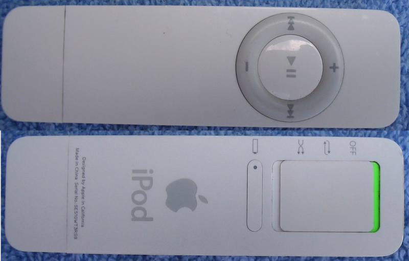 Pictures of front and back of the iPod Shuffle